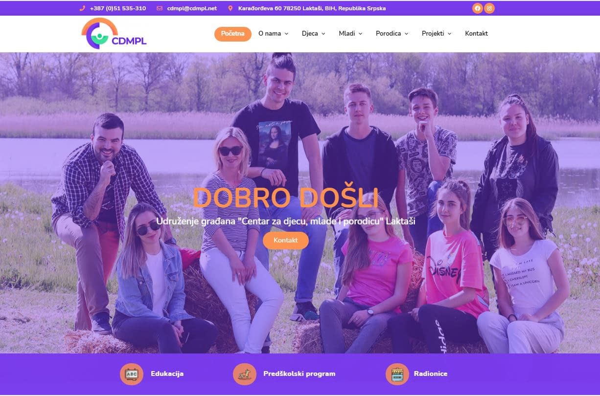 "Projekat ""Laktaši Local Youth Development"" i sajt cdmpl.net 1 CDMPL"